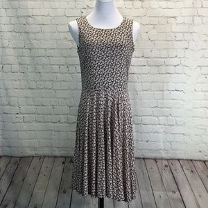 Loft Fit & Flare Sleeveless Rayon Jersey Dress M